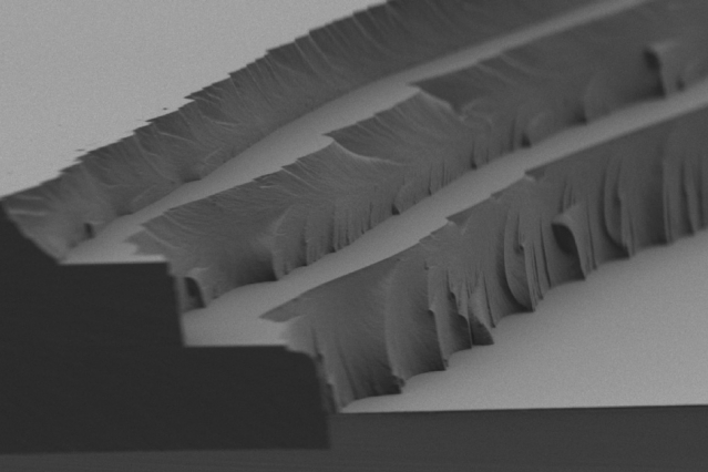The layer-by-layer solar thermal fuel polymer film comprises three distinct layers (4 to 5 microns in thickness for each). Cross-linking after each layer enables building up films of tunable thickness.